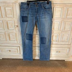 Lucky brand distressed patch jean size 8